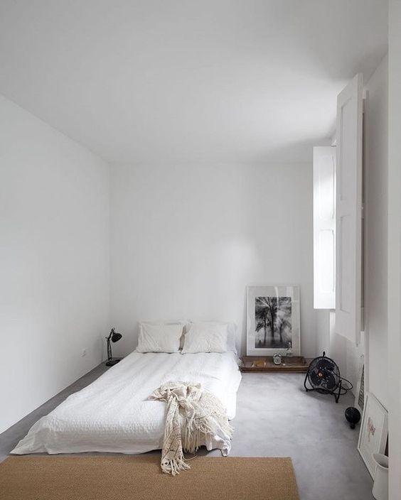 18 Recamaras blancas minimalistas