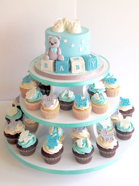 Baby Shower Cupcake Tower Ideas : Baby shower cupcake tower My cakes Pinterest Baby ...