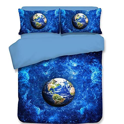 Hxzb Duvet Cover And Pillowcase Set Beautiful 3d Planet Pattern Premium Quilt Cover Luxury Trendy Quilt Bed Quilt Sets Bedding Queen Bedding Sets Quilt Cover