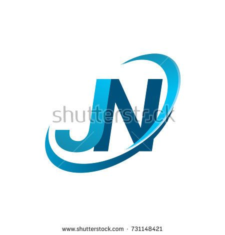 Initial Letter Jn Logotype Company Name Colored Blue Swoosh Design Concept Vector Logo For Business And Company Letter Logo Design Lettering Company Identity