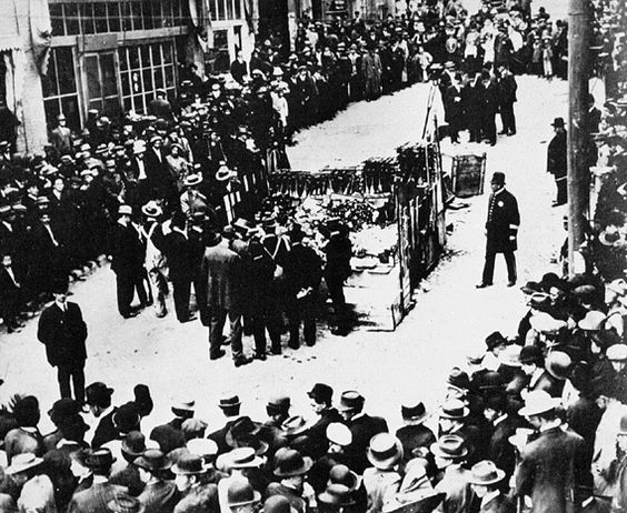 OPIUM TO THE PUBLIC: Officials publicly burn confiscated opium from dens in the San Francisco's Chinatown, 1919.