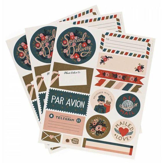 Par Avion - Stickers & Labels