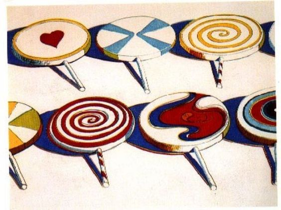 White Chocolate Lollipops And Wayne Thiebaud On Pinterest