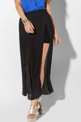 Pleated Overlay Mini Skirt