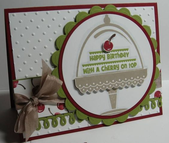 Happy Birthday with a Cherry on Top by Jennipurr - Cards and Paper Crafts at Splitcoaststampers ...