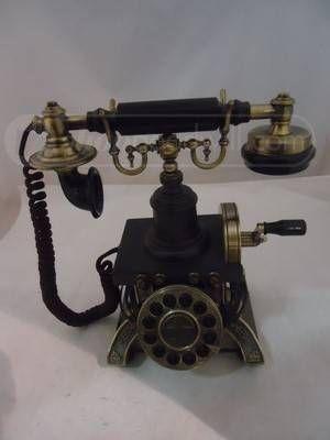 shopgoodwill.com: Dark Brown Crosley Telephone, Model Number-1892
