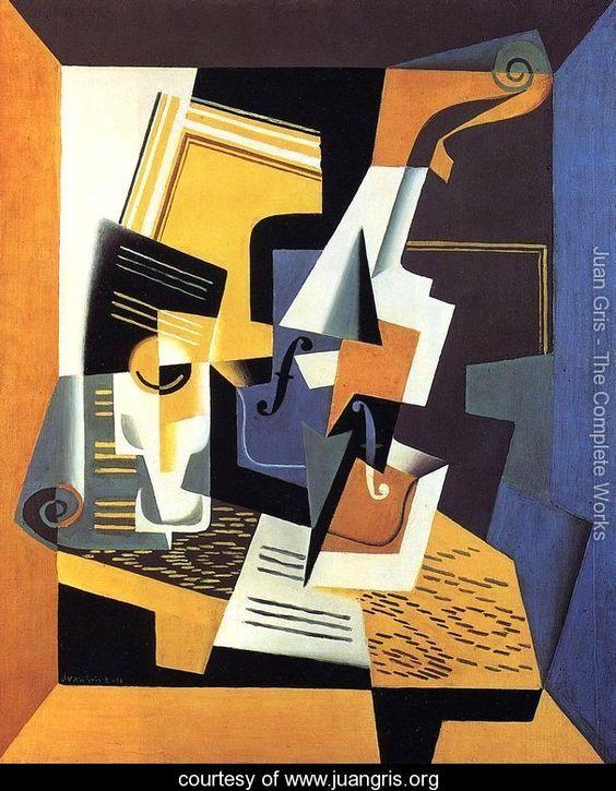 Violin and Glass I - Juan Gris - www.juangris.org