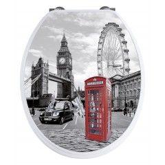 WENKO WC-Sitz London mit 3D-Effekt und Absenkautomatik