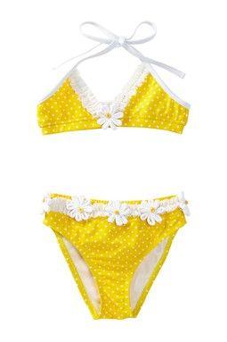 Daisy Polka Dot Bikini (Toddler & Big Girls)