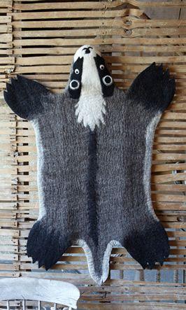Badger rug: Badger Felted, Adorable Badger, Badger Rug, Baby, House Rugs, Rugs Plümo, Badger Fur, Badger Milk, Rug Plümo