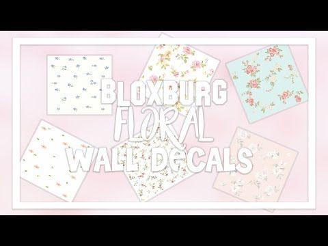 Roblox Bloxburg Decal Codes Moon Bloxburg Wallpaper Decal Id Codes Floral Aesthetic Part 1 Youtube In 2020 Print Decals Custom Decals Code Wallpaper