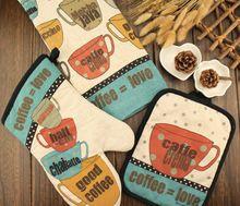 3 stks/set Mode Keuken Magnetron Handschoenen Handdoek Ovenwanten Pannenlap Cup Mat(China (Mainland))