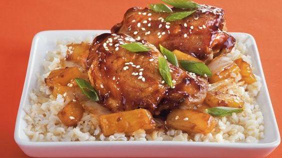 Teriyaki Chicken Thighs- Slow Cooker