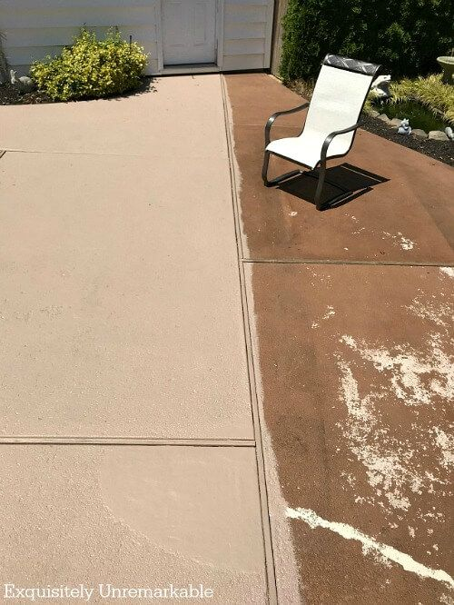 How To Paint Concrete Patio Makeover Concrete Patio Makeover
