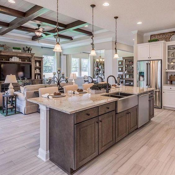 Open kitchen/living room