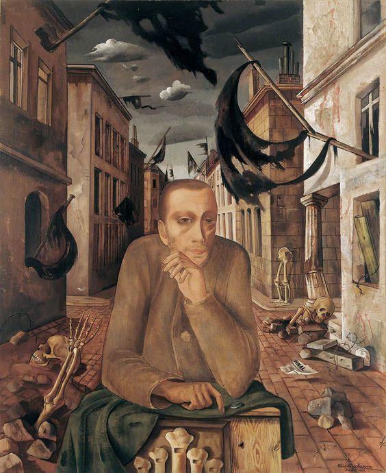 Gemälde: Felix Nussbaum, Orgelmann,1943