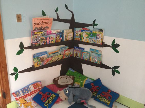 Reading corner in play school: