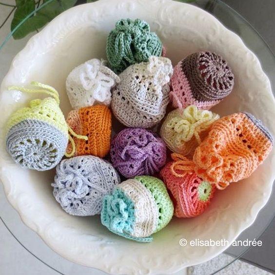 Mini crochet pouches- good for mini Easter eggs.