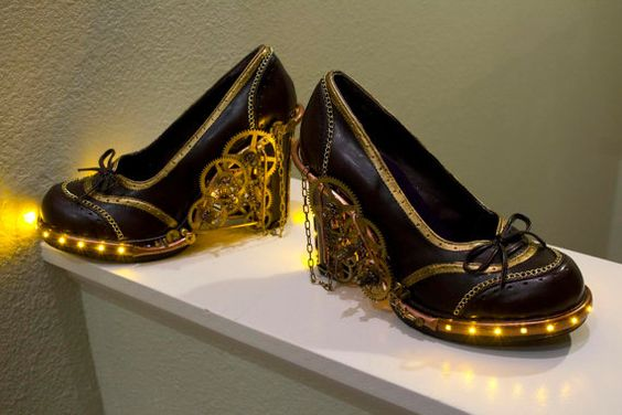 LED lights are what's been missing from every steampunk shoe I've ever seen! I'm a believer now.