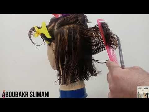 مراحل تقطيع كوب كاري ديݣرادي جد سهلة وحترافية الدرس الثاني و العشرون Youtube Hair Wrap Hair Hair Straightener