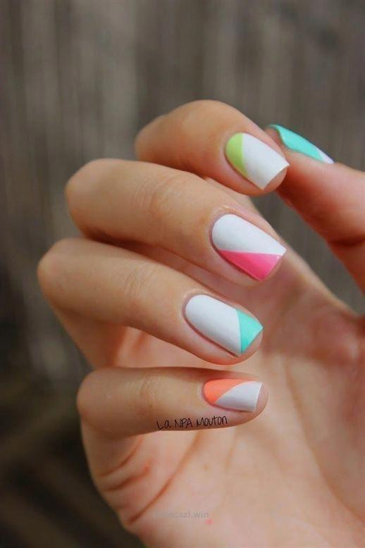 Summer Nail Tips Shape Summeracrylicnails Nail Designs Nail