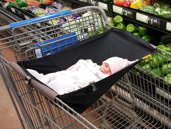 I NEED this! I can never see over the top of the infant car seat to push the cart and if you put the seat down inside, there's no room for groceries! Binxy Baby