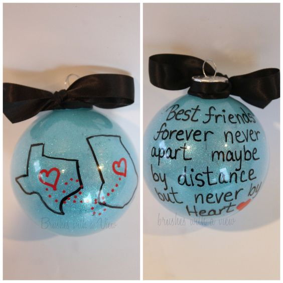 Christmas Gift Ideas For Long Distance Boyfriend: State Or Country Christmas Ornament, Best Friends
