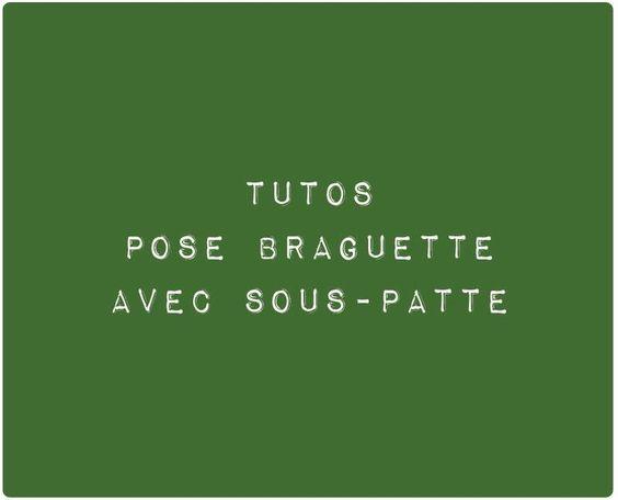Tutos Braguette avec Sous-Patte