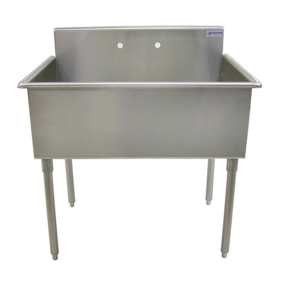 Griffin t60 194 single bowl scullery commercial sink - Commercial bathroom sinks stainless steel ...