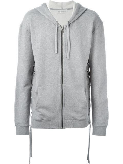 FAITH CONNEXION tie fastening hoodie. #faithconnexion #cloth #hoodie