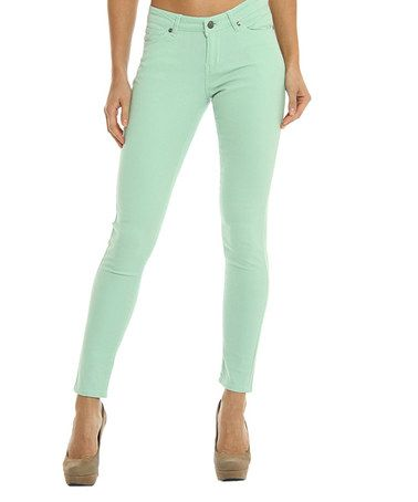 Another great find on #zulily! Mint  High-Waist Skinny Jeans #zulilyfinds