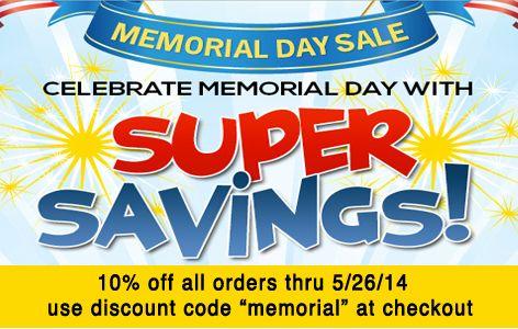 memorial day discounts in california