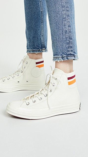 Chuck 70 Retro Stripe High Top Sneakers en 2020 | Zapatillas