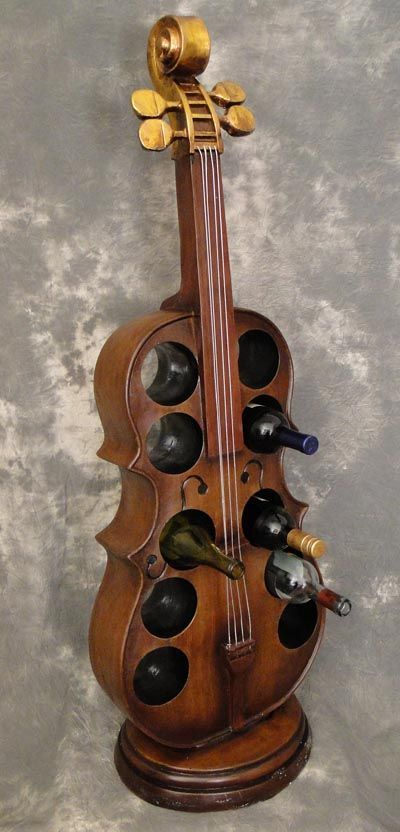 Cello wine rack a truly instrumental furniture accessory that functions as a place to hold 10 - Cello wine rack ...