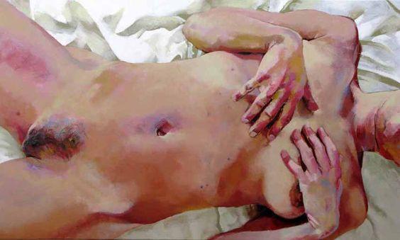 Skin 3, acrylic on canvas, 90 x 150 cm, 2009