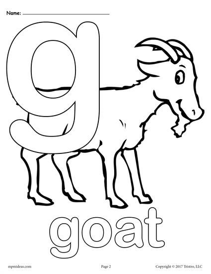 540 Alphabet Coloring Pages Letter G  Images
