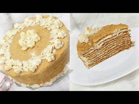 تارت العسل الروسية بكل مراحلها وصفة سهلة وبسيطة والاهم بنينة Youtube Cooking Recipes Cake Desserts