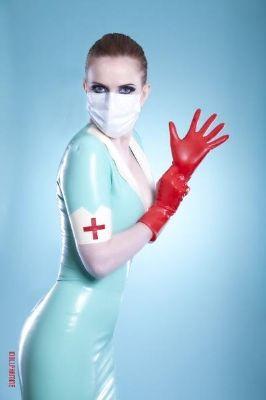 Latex Rubber Nurse Dress