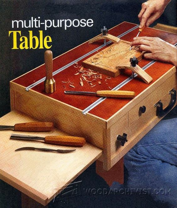 beautiful wood carving table design 8