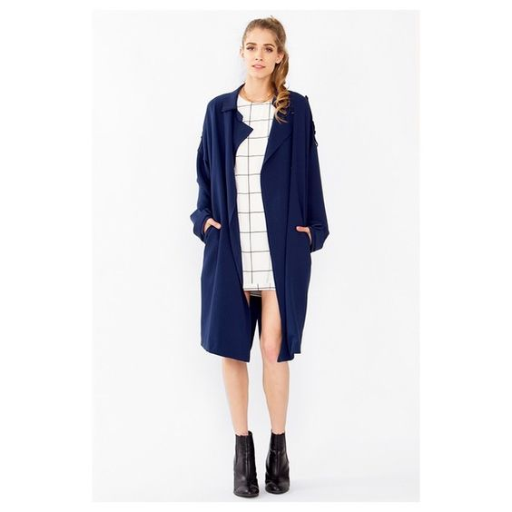 NWT Slouchy Navy Trench Coat We could not be more obsessed with this coat. It's the perfect slouchy-cool girl fit & doesn't look like you're trying to hard. This will be the must-have jacket to wear transitioning into Spring this season - and layered up with books and sweaters in Fall.   Available in sizes: XS, S, M, L ‼️Please leave comment requesting size & I will make a separate size specific listing for you to purchase. xx Jackets & Coats Trench Coats