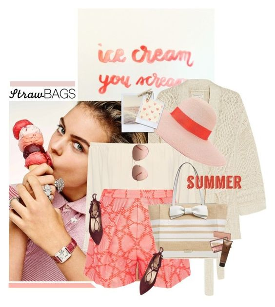 """Ice Cream"" by chebear ❤ liked on Polyvore featuring Étoile Isabel Marant, WearAll, Eugenia Kim, MSGM, Kate Spade, Household Essentials, Urban Decay, Sothys and strawbags"