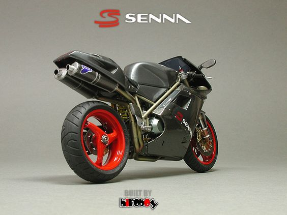 The Ducati 916 Senna :Between 1996 and 1998, to pay tribute to Ayrton Senna, Italian motorcycle manufacturer Ducati produced special Senna editions of their 916 superbike. Ducati was at the time owned by Claudio Castiglioni, a personal friend of Ayrton Senna who was an avid Ducati lover.