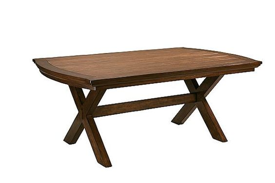The Burkesville Trestle Dining Table From Ashley Furniture HomeStore  (AFHS.com). With The Deep Burnished Finish Flowing Beautifully Over The  Curvedu2026
