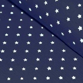 Bündchenstoff Mit Sternen Marine