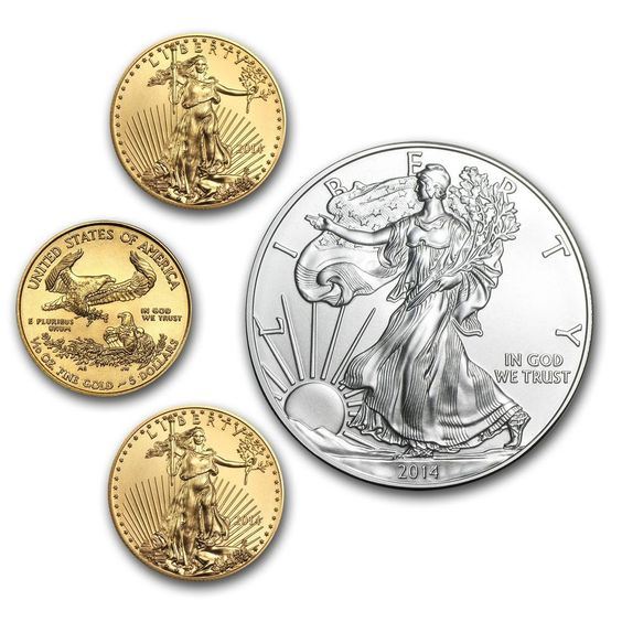 3 2014 1/10 oz Gold American Eagles + 1 2014 Silver Eagle - No reserve Time left: 6d 05h (Mar 11, 2014 03:58:31 PDT) Current bid:US $407.22 [ 44 bids ]