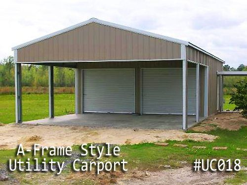Coast To Coast Carports Builds Metal Utility Carports In Many Styles And Sizes Small And Large C Metal Garage Buildings Metal Buildings Custom Metal Buildings