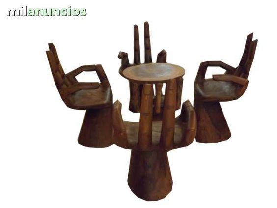 . mesa y sillas en madera maciza  varios colores y medidas www.balindia.es venta al menor y al por mayor