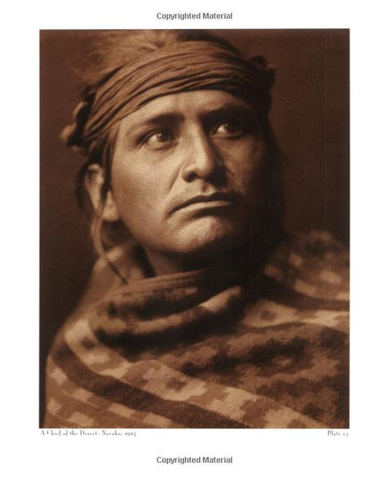A Chief of the Desert Navajo, Edward S Curtis, American