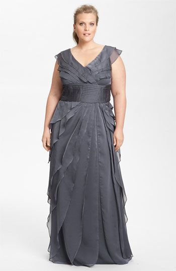Adrianna Papell Iridescent Chiffon Petal Gown (Plus) available at Nordstrom