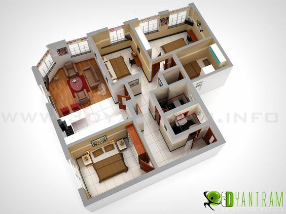 3D #Floor #plan, #360 Virtual Tours for Interior #house #Plan #Floorplans |  Interactive 3D Floor Plans | Pinterest | Virtual tour, House layouts and ...